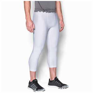 Under Armour HG Armour 2.0 3/4 Compression Tights - Men's - White/Graphite