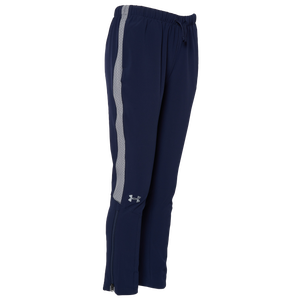 Under Armour Team Squad Woven Pants - Girls' Grade School - Midnight Navy/White