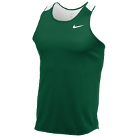 Nike Team Breathe Singlet - Men's - Dark Green / White