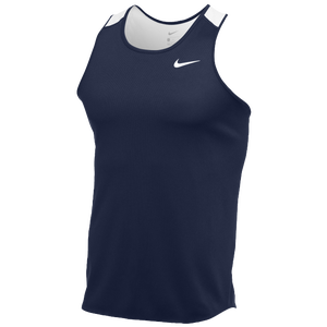 Nike Team Breathe Singlet - Men's - Navy/White
