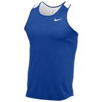 Nike Team Breathe Singlet - Men's - Blue / White