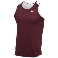Nike Team Breathe Singlet - Men's - Cardinal / White