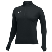 Nike Team Dry Element 1/2 Zip Top - Women's - All Black / Black