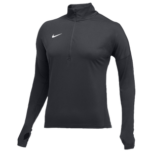 Nike Team Dry Element 1/2 Zip Top - Women's - Anthracite/White