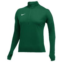 Nike Team Dry Element 1/2 Zip Top - Women's - Dark Green / Dark Green