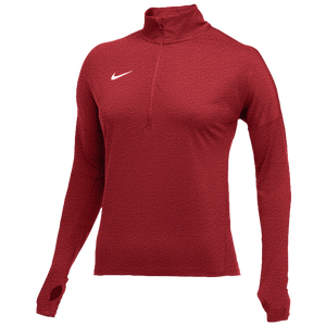 Nike Team Dry Element 1/2 Zip Top - Women's - Scarlet Heather/White