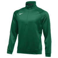 Nike Team Therma 1/4 Zip Top - Men's - Dark Green / Dark Green