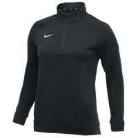 Nike Team Therma 1/4 Zip Top - Women's - All Black / Black