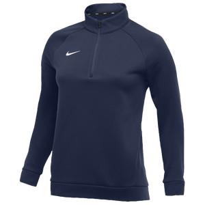 Nike Team Therma 1/4 Zip Top - Women's - Navy/White