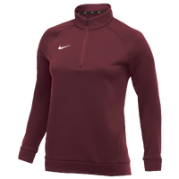 Nike Team Therma 1/4 Zip Top - Women's - Maroon / Maroon