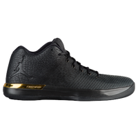 jordans shoes black and gold