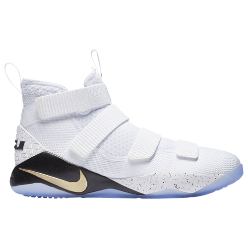 Nike LeBron Soldier 11 - Men\u0027s - Basketball - Shoes - James, Lebron -  White/Metallic Gold/Black