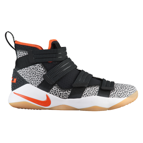 Nike LeBron Soldier 11 SFG - Men\u0027s - Basketball - Shoes - James, Lebron -  Black/Team Orange/White/Atmosphere Grey