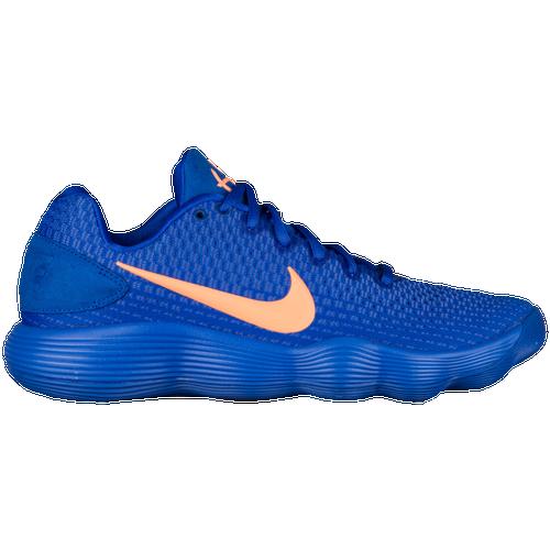 cheaper b3cf7 89b6f ... 2012 grade school Nike React Hyperdunk 2017 Low - Mens - Blue Orange Basketball  Shoes ...