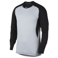 Nike Long Sleeve Game Top - Men's - Grey / Black