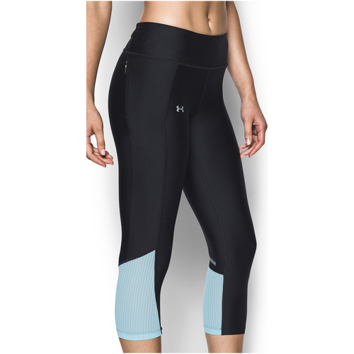 Under Armour Fly By Run Capris - Women's Running - Black/Maui/Reflective 97933011