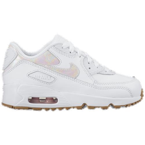 6179c3ee7a2 Nike.com UK Nike Air Max 90 - Girls Preschool - Running - Shoes -  WhiteWhitePrism PinkGum Light Brown ...