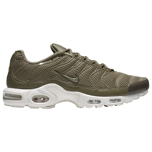 nike air max plus br mens olive green  white