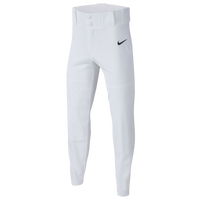 Nike Youth Core Dri-FIT Open Hem Baseball Pants - Boys' Grade School - White / Black