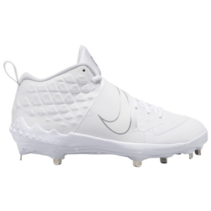 Nike Force Air Trout 6 Pro - Men's - White/White/Pure Platinum