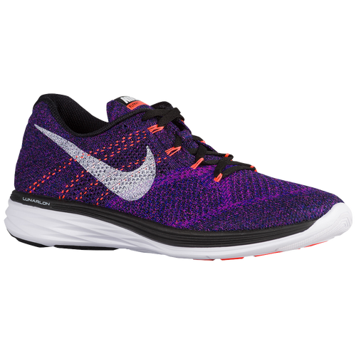 Nike Flyknit Lunar 3 - Men's - Running - Shoes - Black/Concord/Vivid Purple/ White
