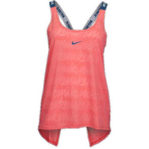 Nike Script Elastika Tank - Women's Training - Sea Coral 98249824