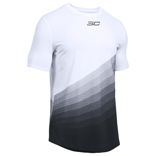 Under Armour SC30 Energy T-Shirt - Men's - Basketball - Clothing - Curry,  Stephen - White/Black