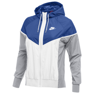 Nike Team NSW Windrunner Jacket - Women's - Royal/White/Wolf Grey
