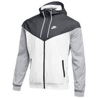 Nike Team NSW Windrunner Jacket - Men's - Grey / White