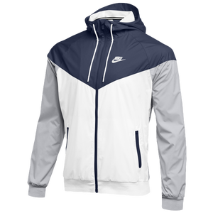 Nike Team NSW Windrunner Jacket - Men's - Navy/White/Wolf Grey