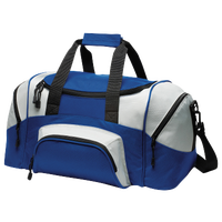 Port Authority Team Small Colorblock Sport Duffel - Blue / Grey