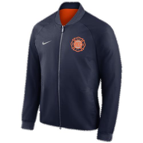 9945d7742b1c Nike NBA Team Modern Varsity Jacket - Men s - Clothing - New York Knicks -  Navy