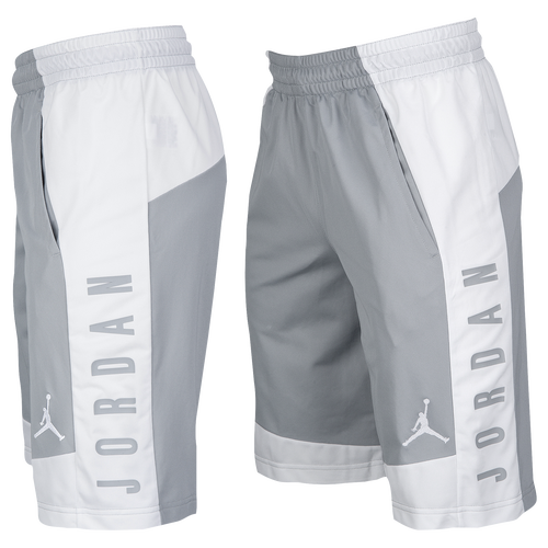 Jordan AJ Shorts - Men's Basketball - Wolf Grey/White 99375013