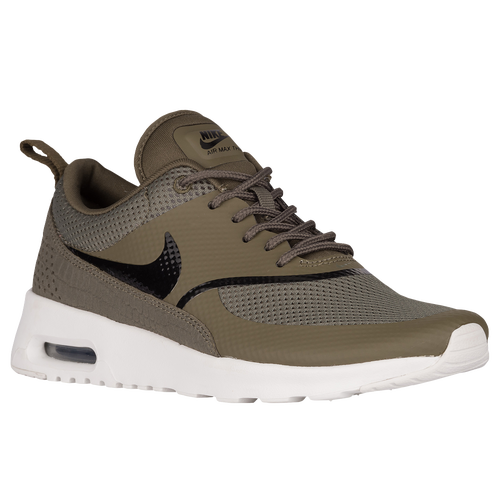 Nike Air Max Thea - Women's - Casual - Shoes - Medium Olive/Black/Summit  White