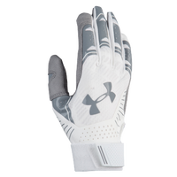 Under Armour Motive Fastpitch Batting Gloves - Women's - White / Grey