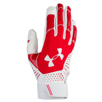 Under Armour Motive Fastpitch Batting Gloves - Women's - Red / White
