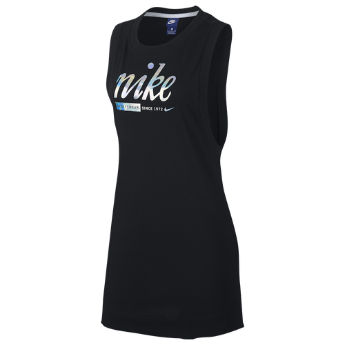 Nike Metallic Tank Dress - Women's Casual - Black 9972010