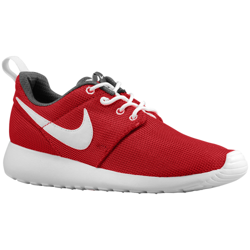 Nike Roshe One - Boys' Grade School - Running - Shoes - Gym Red/Dark  Grey/White