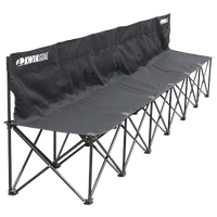 Kwik Goal Kwik Bench 6 Seat Collapsible Bench - Black