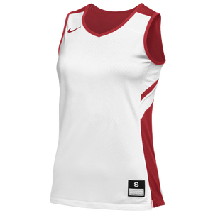Nike Team Reversible Game Jersey - Women's - White/Scarlet