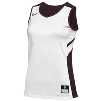 Nike Team Reversible Game Jersey - Women's - White / Maroon