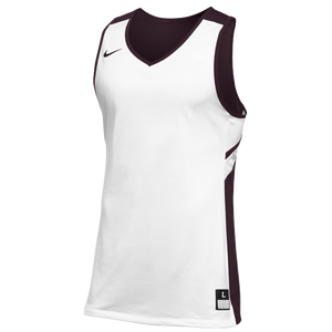 Nike Team Reversible Game Jersey - Men's - White/Dark Maroon