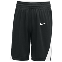 Nike Team National Shorts - Boys' Grade School - Black / White
