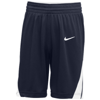 Nike Team National Shorts - Boys' Grade School - Navy / White