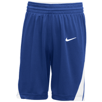 Nike Team National Shorts - Boys' Grade School - Blue / White