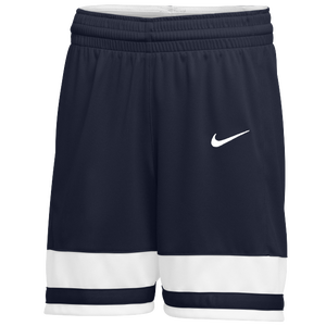 Nike Team National Shorts - Girls' Grade School - Navy/White