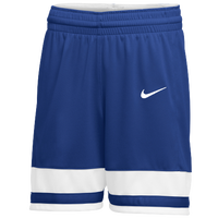 Nike Team National Shorts - Girls' Grade School - Blue / White