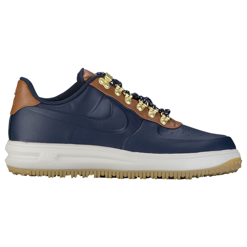 Nike Lunar Force 1 Duckboot Low - Men's - Casual - Shoes - Obsidian/Obsidian/Saddle  Brown