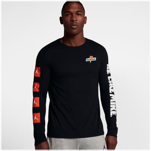 Jordan JSW Like Mike Long Sleeve T-Shirt - Men's - Basketball ...