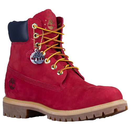 timberland 6 premium waterproof boots - mens red